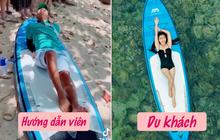 Clip: Anh hướng dẫn viên chỉ du khách cách tạo dáng bikini sống ảo, nhìn độ ưỡn của cái hông là biết chuyên nghiệp cỡ nào!