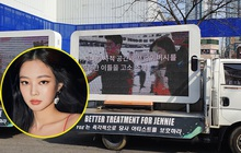 """Đến lượt fan Jennie (BLACKPINK) thuê xe tải """"uy hiếp"""" YG đòi quyền lợi, yêu cầu bảo vệ nữ idol sau khi bị xâm phạm đời tư"""