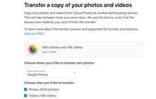 Apple cho chuyển ảnh từ iCloud sang Google Photos
