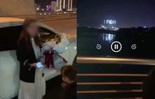 """Clip dừng ô tô trên cầu Trần Thị Lý để """"tỏ tình"""" lãng mạng với vợ gây sốt MXH, nam thanh niên bị phạt hành chính"""