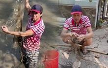 """Nghệ sĩ Hoài Linh bì bõm lội xuống bùn để """"kiếm cơm"""", xem xong càng thấy thương những người dân làm nghề """"bà cậu"""""""
