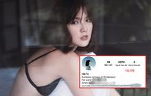 Sau liên hoàn drama, Instagram của Hải Tú tụt một lèo mất hơn 10.000 follower
