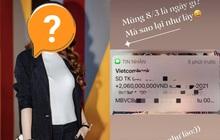 Chào buổi sáng 8/3, một sao nữ Vbiz được bạn trai doanh nhân chuyển nóng ngay 2 tỷ đồng làm quà!