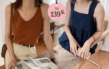 Tổng hợp áo hai dây đáng mua nhất ở các shop: Giá chỉ từ 180k mà xinh như thiên thần
