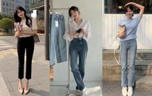 """Học nàng blogger Hàn cách diện jeans """"đỉnh của chóp"""", vừa hack dáng, vừa thanh lịch để đến sở làm"""