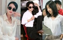 """""""Điên nữ"""" Seo Ye Ji chỉ diện sơ mi trắng basic mà vẫn sang hết chỗ chê, tấm gương mix đồ để học hỏi đây rồi!"""