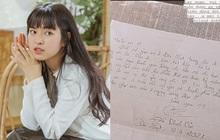 """Khánh Vân khoe bức thư gửi tặng fan, nhưng thứ dân tình chú ý lại là nét chữ siêu """"bánh bèo"""""""