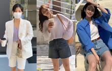 """Mùa hè nóng nực, chị em nào muốn mặc quần short mà xinh như gái Hàn thì """"bơi"""" vào đây!"""