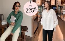 """Tổng hợp áo sơ mi oversize """"đỉnh"""" nhất các shop: Ai muốn style xịn chuẩn Hàn tậu ngay"""