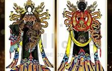 """Lại thêm tình trạng """"ăn cắp"""" thiết kế của người khác để đi thi trang phục dân tộc cho Trân Đài!"""
