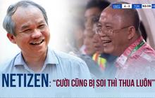 """Dân mạng tranh cãi kịch liệt về vụ bầu Đức cà khịa Than Quảng Ninh khi thua Hà Nội FC: """"Cười cũng bị soi thì thua luôn"""""""