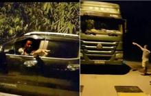 Thanh tra GTVT Hà Nội bị dọa đánh khi kiểm tra xe quá tải