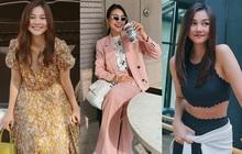 Thanh Hằng diện cả loạt đồ bình dân và dễ kiếm, từ váy hoa điệu đà đến suit công sở đều xinh vô cùng