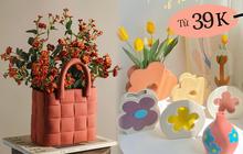 """Tổng hợp bình hoa style """"Hàn xẻng"""" siêu rẻ chỉ từ 39k, cắm hoa gì cũng xinh hết ý"""