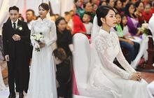"""""""Bóc"""" áo dài cưới của vợ Phan Mạnh Quỳnh: Đính tới 8000 viên đá swarovski đắt tiền, đai corset làm nổi vòng 2 """"siêu thực"""" của cô dâu"""