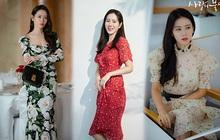 Từ trong phim ra ngoài đời, Son Ye Jin đều tích cực diện một mẫu váy siêu xinh tươi và trẻ trung