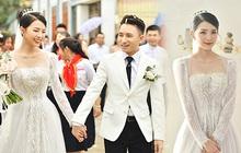 Cận cảnh váy cưới đính 10.000 viên pha lê bạc của hot girl Khánh Vy - vợ Phan Mạnh Quỳnh