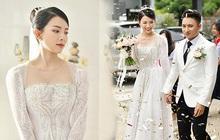 Không cần trang điểm cầu kỳ, vợ Phan Mạnh Quỳnh vẫn xinh xuất sắc trong ngày trọng đại