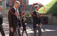 Sau mọi sóng gió, anh em Hoàng tử William - Harry lần đầu mặt đối mặt tại tang lễ ông nội, Công nương Kate cố tình lánh đi để họ được riêng tư