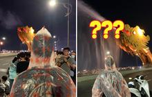 Trời khô ráo nhưng lại mặc áo mưa ra ngắm cầu Rồng Đà Nẵng, thanh niên bị mọi người trêu chọc nhưng 10 phút sau ai cũng phải nể