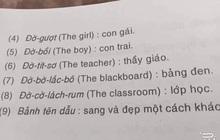 """Màn phiên âm tiếng Anh sang tiếng Việt """"thảm họa"""" khiến dân tình cười lăn, đến cả dân chuyên Anh cũng không dịch nổi từ cuối"""