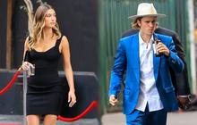 """Justin Bieber đi ăn cưới bạn mà gây tranh cãi vì luộm thuộm, vừa đi vừa nốc rượu, kéo sang cô vợ Hailey """"đã mắt"""" hẳn"""