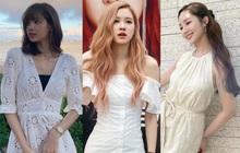 """Ngắm sao Hàn diện váy trắng xinh như mộng, chị em sẽ không tiếc tiền sắm cả """"lố"""" về để nâng cấp style"""