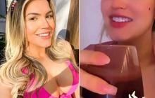 Người mẫu Brazil gây tranh cãi dữ dội vì uống sinh tố làm từ nhau thai của mình