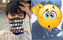 Chàng trai Nhật gây sốt vì khoảnh khắc xuất thần khi làm tóc, nhan sắc sau lớp khẩu trang còn đốn tim hơn