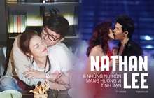 """Nathan Lee và những """"nụ hôn mang hương vị tình bạn"""": Từ Lý Nhã Kỳ, Phương Mai đến màn khóa môi nóng rực trên show"""