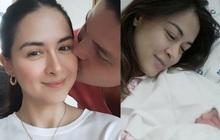 """Mỹ nhân đẹp nhất Philippines tung """"cẩu lương"""" siêu ngọt trong Ngày của Mẹ, nhan sắc mẹ 2 con khi lâm bồn gây sốt"""