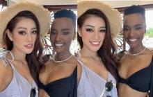 Netizen phát sốt với màn đọ sắc của Khánh Vân và Hoa hậu Hoàn vũ 2019 chung khung hình: Nhan sắc liệu có lép vế?