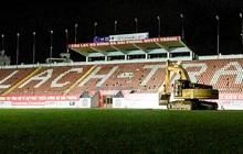 SVĐ Lạch Tray bắt đầu dự án cải tạo mặt sân hàng chục tỷ đồng ngay trong đêm