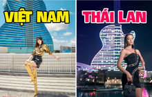 """Dàn thí sinh Hoa hậu Hoàn vũ đọ dáng """"chặt chém"""" tại khách sạn độc nhất nước Mỹ: Loạt ảnh của Khánh Vân """"ăn đứt"""" tất cả!"""