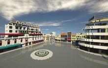 Phố đi bộ quanh hồ Gươm được tái hiện trong Minecraft