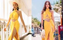 """HH Khánh Vân đụng hàng HH Kỳ Duyên: Diện chung 1 mẫu váy bốc lửa nhưng ai mới """"làm mưa làm gió""""?"""