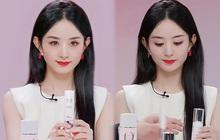Triệu Lệ Dĩnh bị chê giả tạo vì makeup dày cộp khi livestream quảng cáo đồ dưỡng da