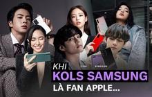 Góc khó hiểu: Là KOL hàng đầu của Samsung nhưng hà cớ gì BLACKPINK, BTS đến Châu Bùi, Khánh Linh... cứ mê mẩn dùng iPhone?