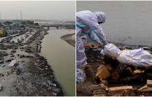 """Tột cùng của sự khốn khổ giữa """"địa ngục Covid"""" Ấn Độ: Thi thể dạt bờ hàng loạt ở sông Hằng, vì người nghèo không đủ tiền hỏa táng nữa"""