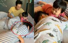 """Đàm Thu Trang khoe gia đình hạnh phúc: Công chúa Suchin nhỏ mà quậy, anh trai Subeo thì """"chịu trận"""" tránh camera"""