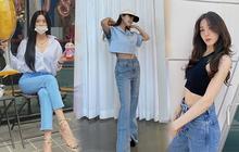 Chị em muốn mặc quần jeans không chỉ trẻ mà còn thanh lịch và sang chảnh, hãy học các sao Hàn 30+