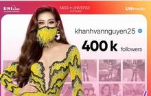 Gần tới đêm thi chính thức, Khánh Vân càng hút người hâm mộ, chính thức cán mốc 400.000 người theo dõi trên Instagram