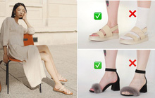 Một lỗi sai khi đi giày/sandals mà nhiều chị em không để ý nhưng lại khiến trang phục kém sang trầm trọng