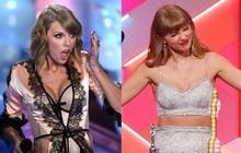 Taylor Swift lột xác ngoạn mục trên thảm đỏ nhờ giảm cân: Visual đỉnh body nuột hẳn, nhưng vòng 1 khủng biến đâu rồi?