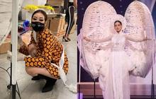 Khánh Vân lên hẳn 2 story Instagram của Miss Universe sau màn trình diễn trang phục dân tộc