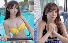 """Off livestream quá lâu, nữ streamer gợi cảm đăng ảnh bikini gợi cảm để bù đắp cho fan rồi hỏi: """"Đủ chưa?"""""""
