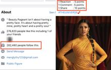 Cảnh báo: Xuất hiện fanpage Miss Universe giả mạo câu like share trắng trợn bằng vote giả, khiến trăm nghìn người đổ xô bình chọn