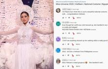 Phản ứng bất ngờ của khán giả quốc tế trước màn trình diễn Quốc phục của Khánh Vân và sự cố Kén Em ở Miss Universe