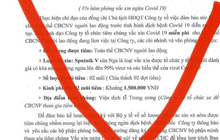 Lừa đảo tiêm vắc-xin ngừa Covid-19 giá 1,5 triệu cho 2 mũi tiêm