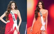 """Sự trùng hợp bất ngờ giữa đầm dạ hội của Khánh Vân ở Miss Universe Việt và Thế giới, """"điềm báo"""" đăng quang là đây?"""
